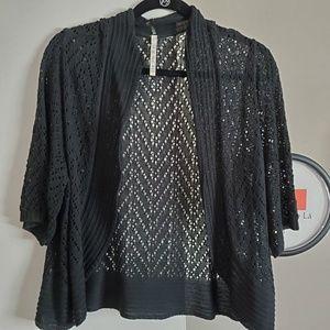 Sweaters - Crochet look crop cardigan